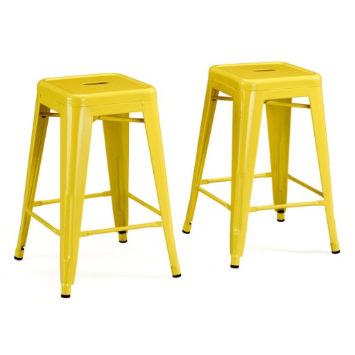 gdf lemon button metal stool blue courts indonesia