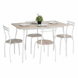 REEDER BEECH DINING SET 4 CHAIRS