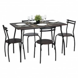 REEDER WENGE DINING SET 4 CHAIRS