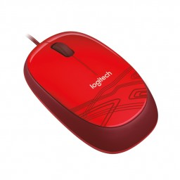 LOGITECH M105 (CORDED) HD OPTICAL MOUSE - RED M105 (CORDED) HD OPTICAL MOUSE - RED