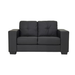 FINLEY SOFA 2 SEATER (PVC) BLACK