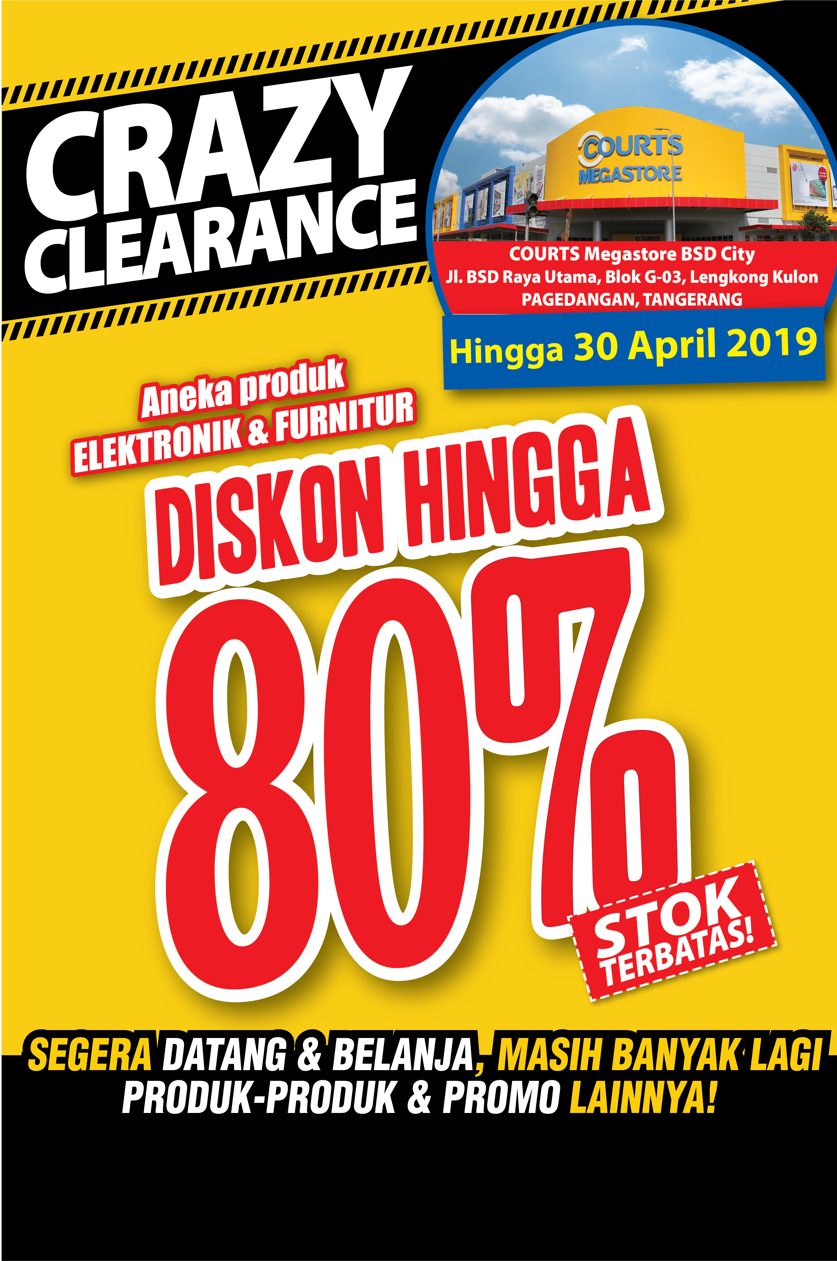 COURTS Crazy Clearance Megastore BSD